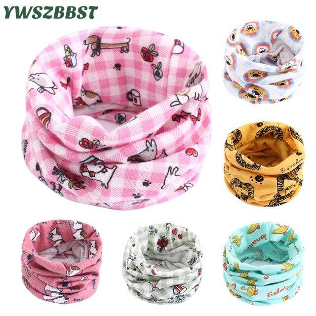 New Cotton Baby Bibs Autumn Winter Baby Girls Scarf O Ring Collar Children Scarves Kids Boys Neckerchief Baby Scarf Burp Cloths