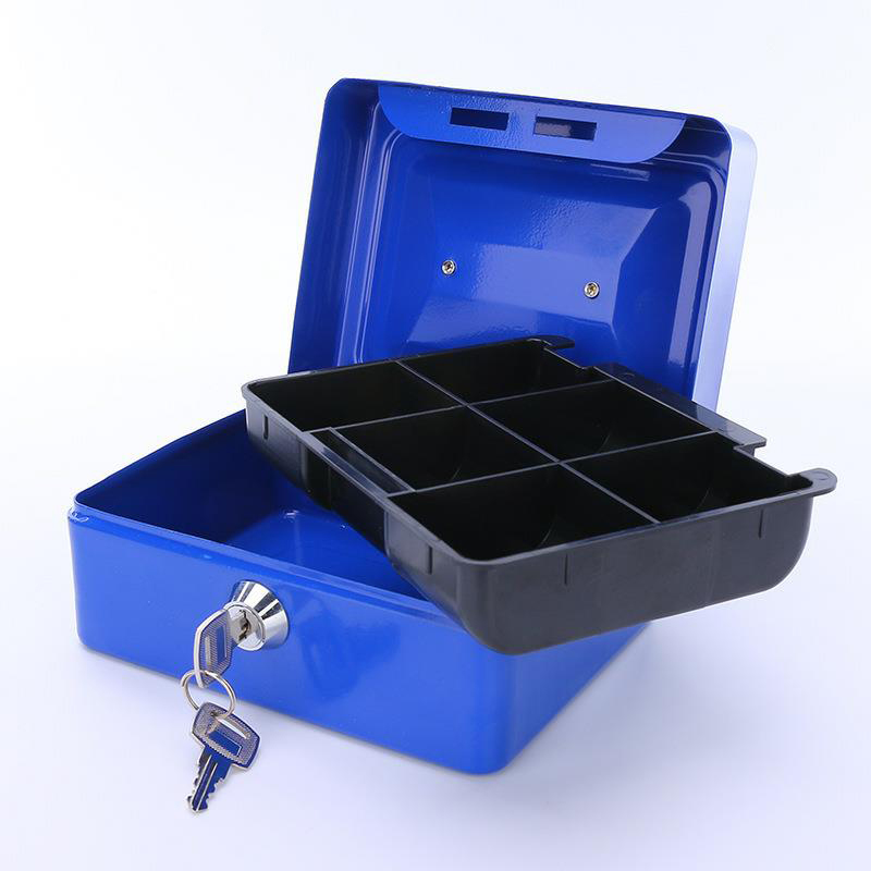 Portable Key Safety Safe Money Jewelry Storage Collection Box Home School Office Layered Tray Security Storage Box DHZ014
