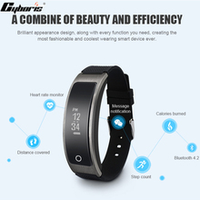 Cyboris Bluetooth4.2 монитор сердечного ритма Браслет Шагомер фитнес-трекер Спорт Смарт-браслет для iOS и Android Xiaomi т. д.