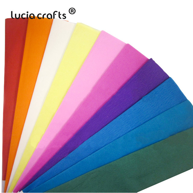 SALE! 54*100cm Colored Crepe Paper Roll Origami Crinkled Crepe Paper DIY Flowers Decoration Gift Wrapping Paper Craft I0419