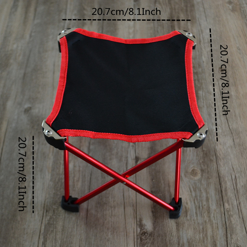 Image 2 - VILEAD 4 Colors Folding Portable Picnic Chair Aluminum Camping BBQ Beach Fishing Outdoor Seat Ultralight Folding Hard 20*20*20cm-in Camping Stools from Sports & Entertainment