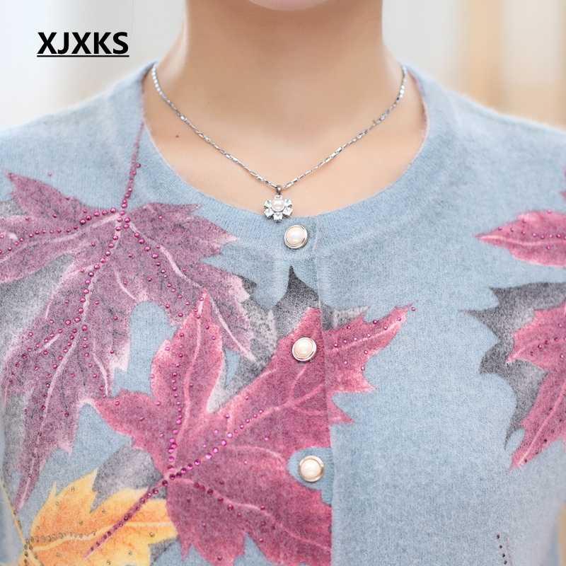 XJXKS свитер женский вязаный кардиган, Свитера осенне-зимняя одежда плюс размер женский винтажный высококачественный теплый свитер