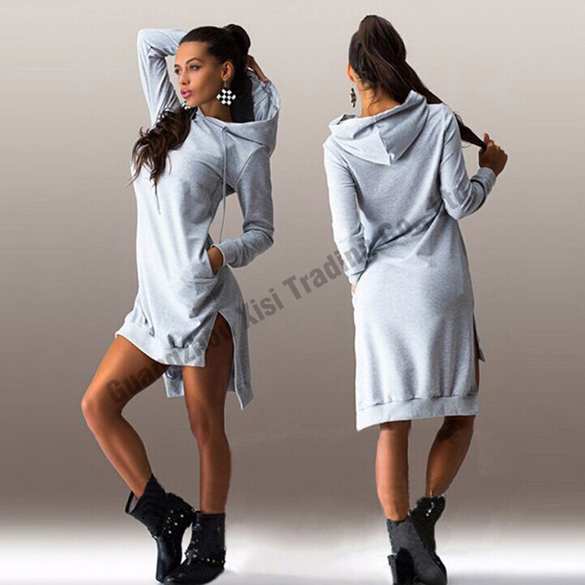 elegant women dress 2016 long sleeve women sweater dress cropped hoodie for women hoodies sweatshirts bodycon dress