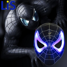 Lis LED Glowing Superhero Halloween Light Spider Man Mask Ch