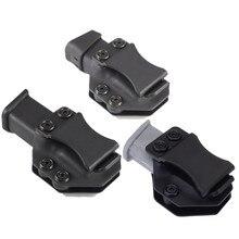 Iwb مجلة Kydex الحافظة ماج حامل الأكياس الناقل ل Glock 17 19 22 23 26 27 31 32 43 داخل حزام خفي حمل