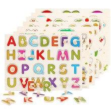 Деревянные Монтессори головоломки ручной захват доска Tangram головоломки детские образовательные игрушки мультфильм автомобиль морские животные головоломки Детский подарок