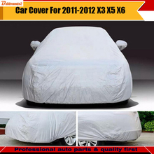 Buildreamen2 Car SUV Cover Snow Sunshade Outdoor Rain Resistant Vehicle Protector Cover Car Accessories For BMW X3 X5 X6