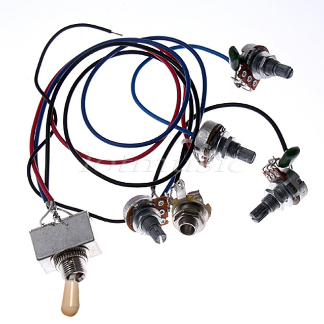 Remarkable Wiring Harness 2V2T 3 Way Box Toggle Switch Jack 4 500K Pot For Wiring Digital Resources Bemuashebarightsorg