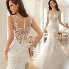 Платье-де-noiva alibaba renda африканских русалка свадебное свадебные платья кружева плюс платье