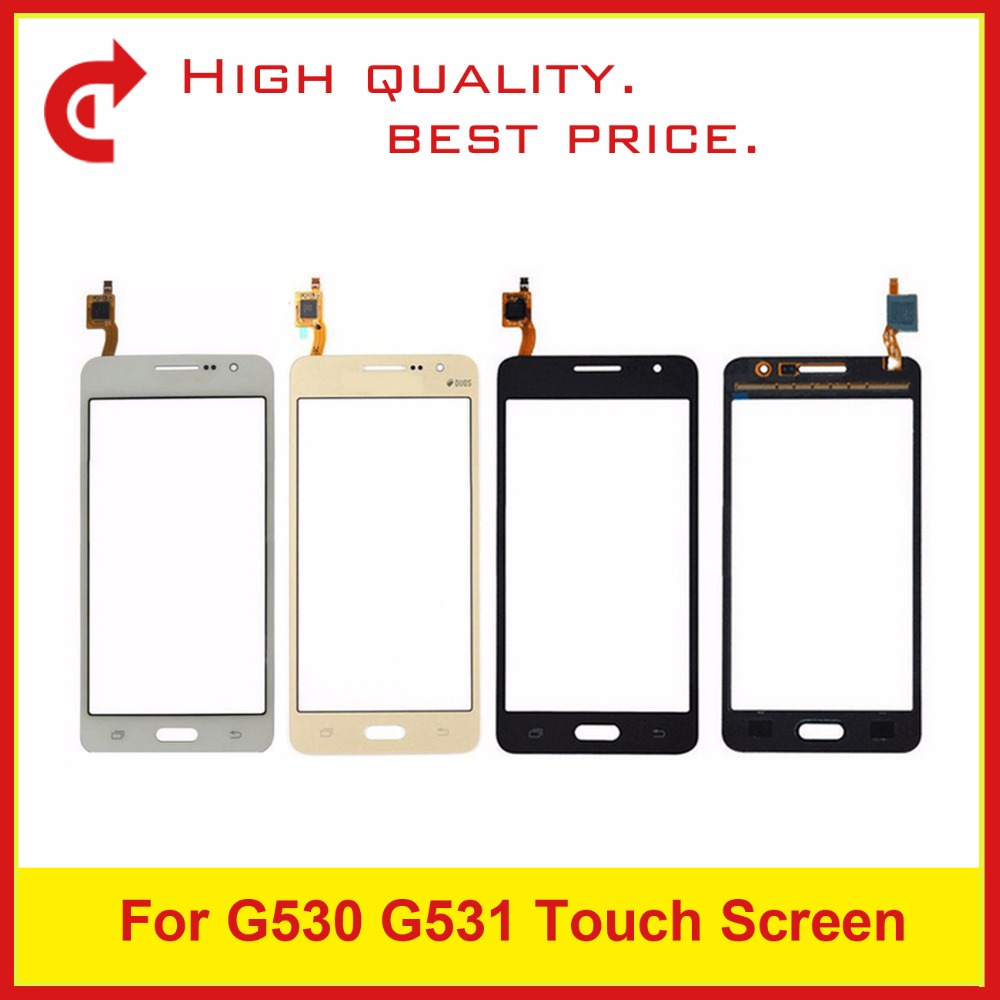 10Pcs/lot For Samsung Galaxy Grand Prime G530 G5308 G530H SM-G531F G531 Digitizer Touch Screen Panel Sensor Outer Glass Lens
