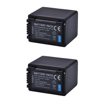 2x 3900mAh VW-VBT380 VBT380 VW-VBT190 VBT190 Battery for Panasonic HC-V110, HC-V130, HC-V160, HC-V180, HC-V201, HC-V250,HC-V260 фото