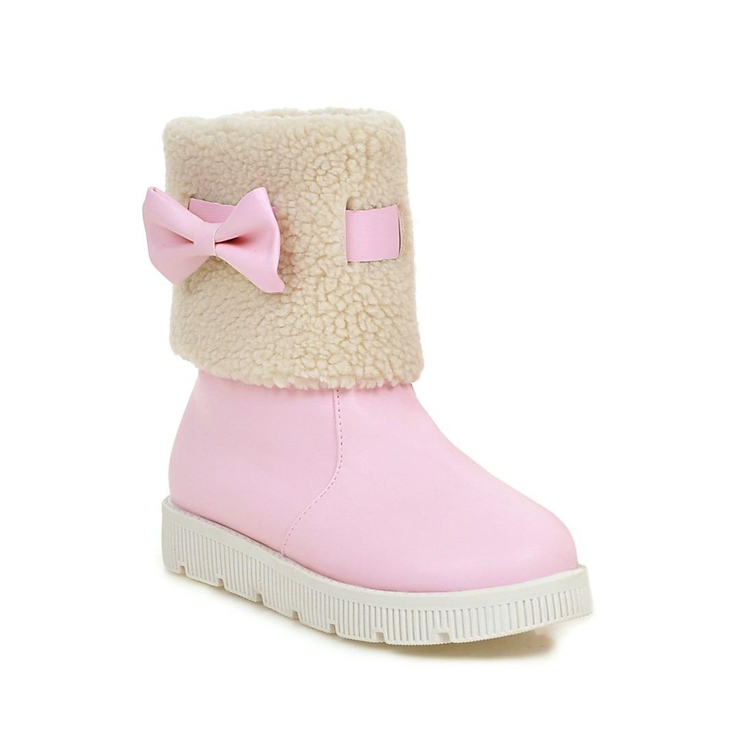 25cf84fe7 Otoño Femenino Marca Caliente Algodón Ldhzxc rosado Moda Zapatos Nieve  Invierno negro De azul Beige Antideslizante 2019 Botas Mujeres ...