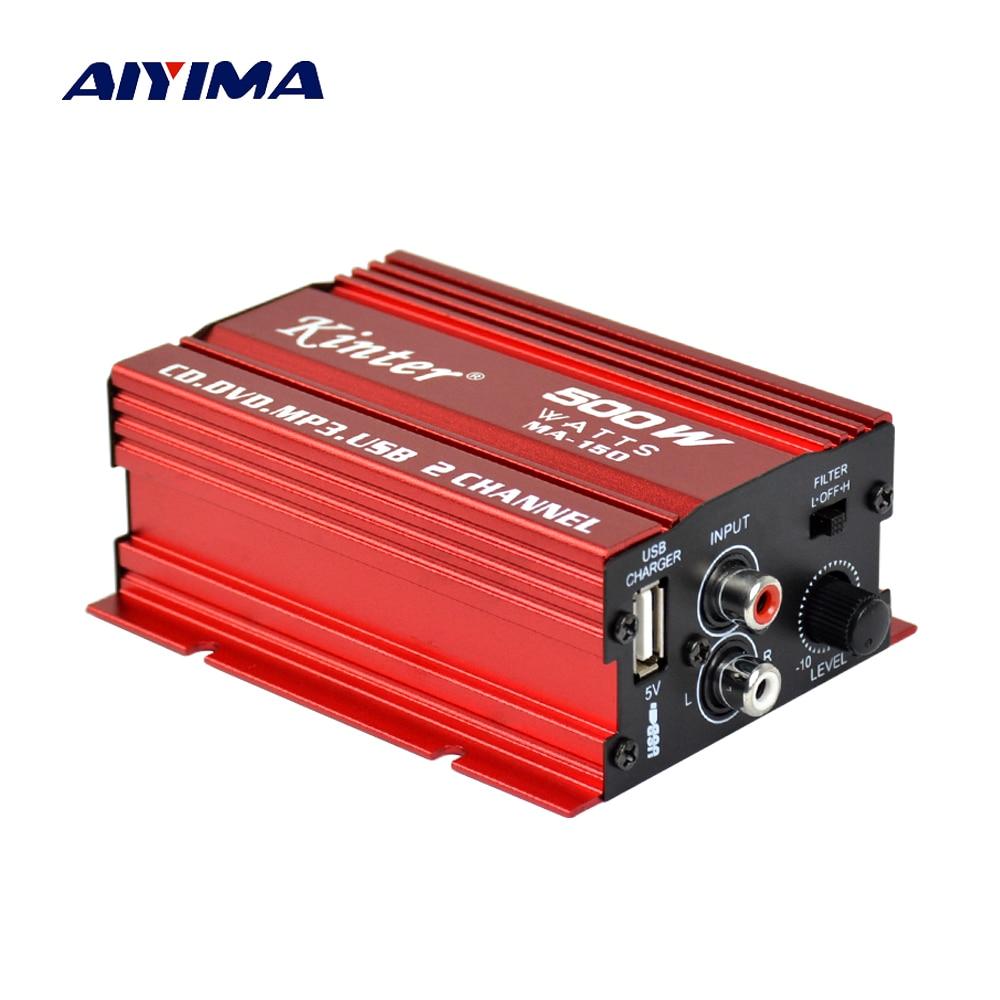 Mini 12v Hi Fi 2 Channel Car Auto Stereo Audio Amplifier