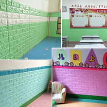 70 X 77cm Hot Sale PE Foam 3D Wallpaper DIY Wall Stickers Decor Embossed Brick Stone Room House Poster