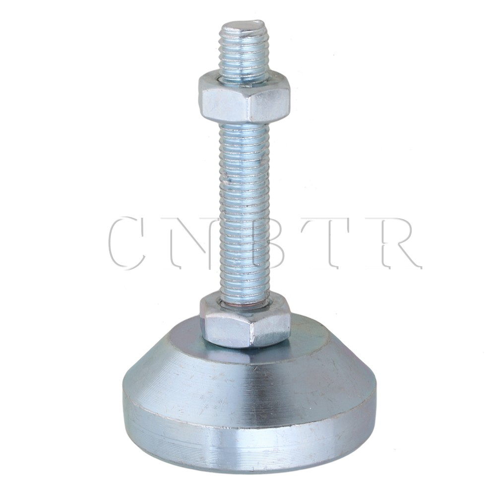 CNBTR 50mm Dia M10x50mm Thread Carbon Steel Adjustable Furniture Leveling Feet