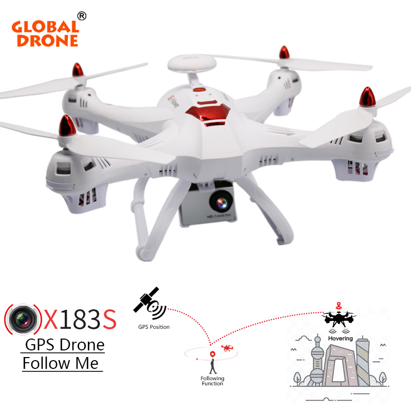 Global Drone X183 Professional GPS Helicopter with 4K Sport Camera Wide-Angle 1080P Quadcopter Wifi High Hold Dron VS SYMA X8