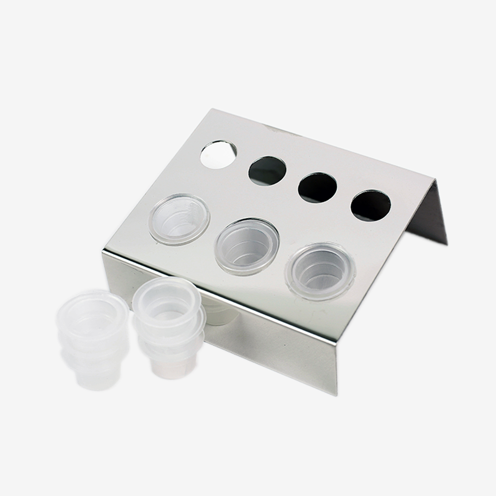 Image 4 - 6/7/8 Holes Pigment Container Stand Tattoo Accessories Supplies Stainless Steel tattoo permanent makeup Ink Cup Holder IBCH024-in Tattoo accesories from Beauty & Health