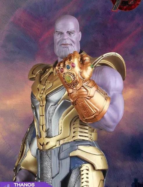 Louco Brinquedos 1:6 de Vingadores Thanos: Infinito Guerra com a Infinity Gauntlet Estátua PVC Figura Modelo Brinquedos