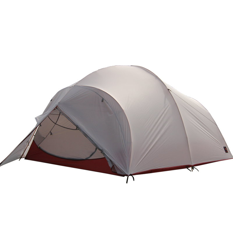 Hillman 3 4 Person Professional Use Aluminum Poles Ultralight Double Layer 20D Coated Silicon Waterproof Windproof