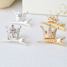 New Pretty Girls Crown Tiara Hair Combs Clear Stone Crystal Mini Tiara Hair Accessories Jewelry