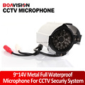 Audio pick up 50~150m2 Adjustable Metal Full Waterproof Seurity Microphone For CCTV Camera DVR AW-audio