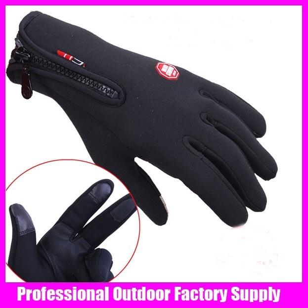 Prix pour Livraison gratuite homme sport d'hiver windstopper gants de ski imperméables gants noir-30 d'équitation chauds surf des neiges gants Moto