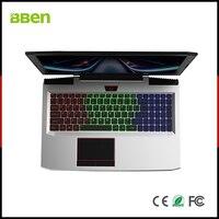 BBEN G16 ноутбук Intel i7 7700HQ Nvidia GTX1060 GDDR5 г оперативная память + + жесткий диск на 1т SSD 256 RGB клавиатура с подсветкой 15,6 ''ips игровой компьютер