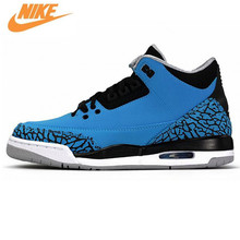 competitive price dbed8 9dc9a Nike Air Jordan Retro 3 III Powder Blue Deep White Black Men's Basketball  Shoes Sneakers,Original Men Outdoor Sports Shoes136064