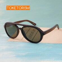Toketorism wooden sunglasses men polarized uv400 high quality wood glasses 8303