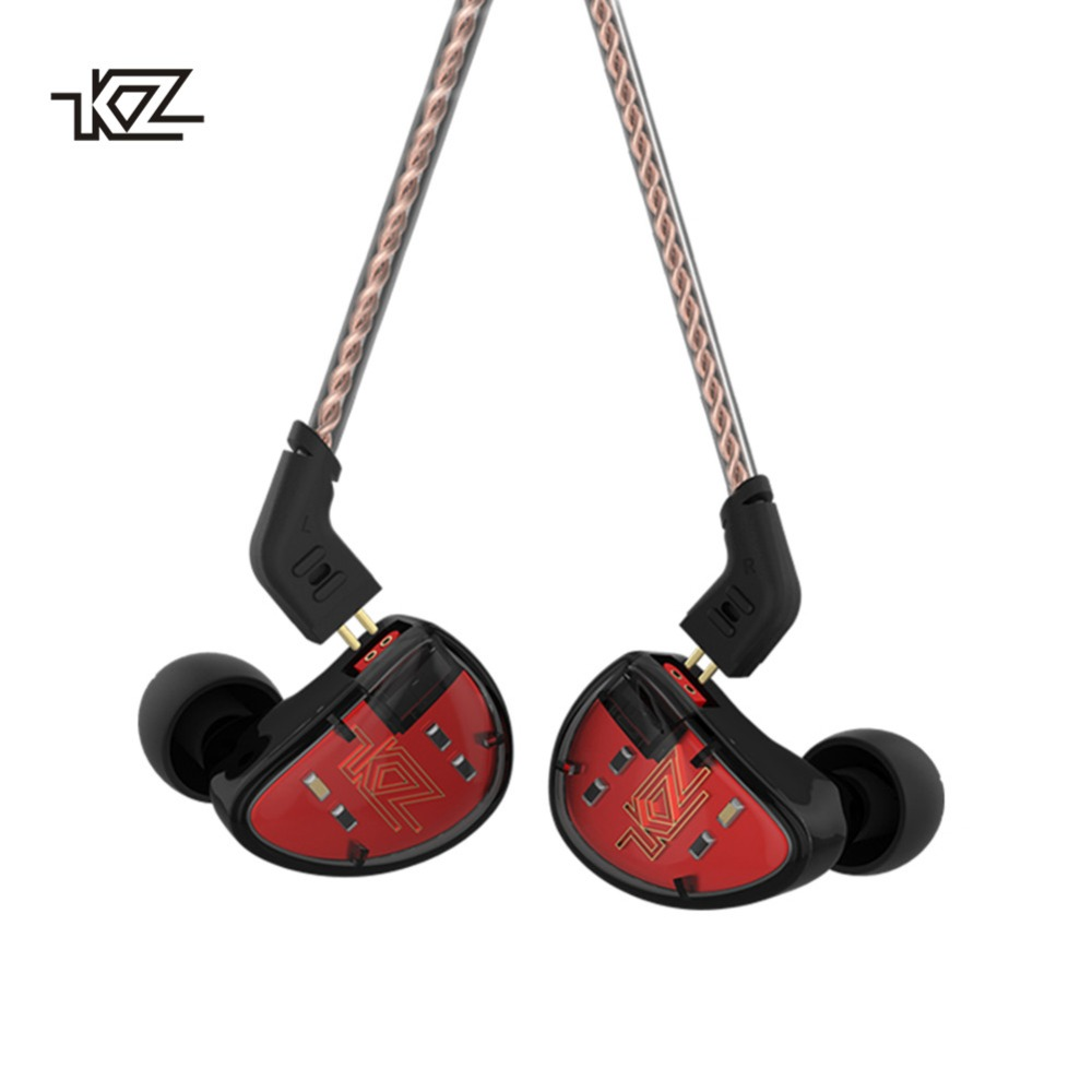 KZ AS10 Headphones 5 Balanced Armature Driver In Ear Earphone HIFI Bass Monitor Earphone Earbuds With 2pin Cable KZ ZS10 KZ BA10 kz