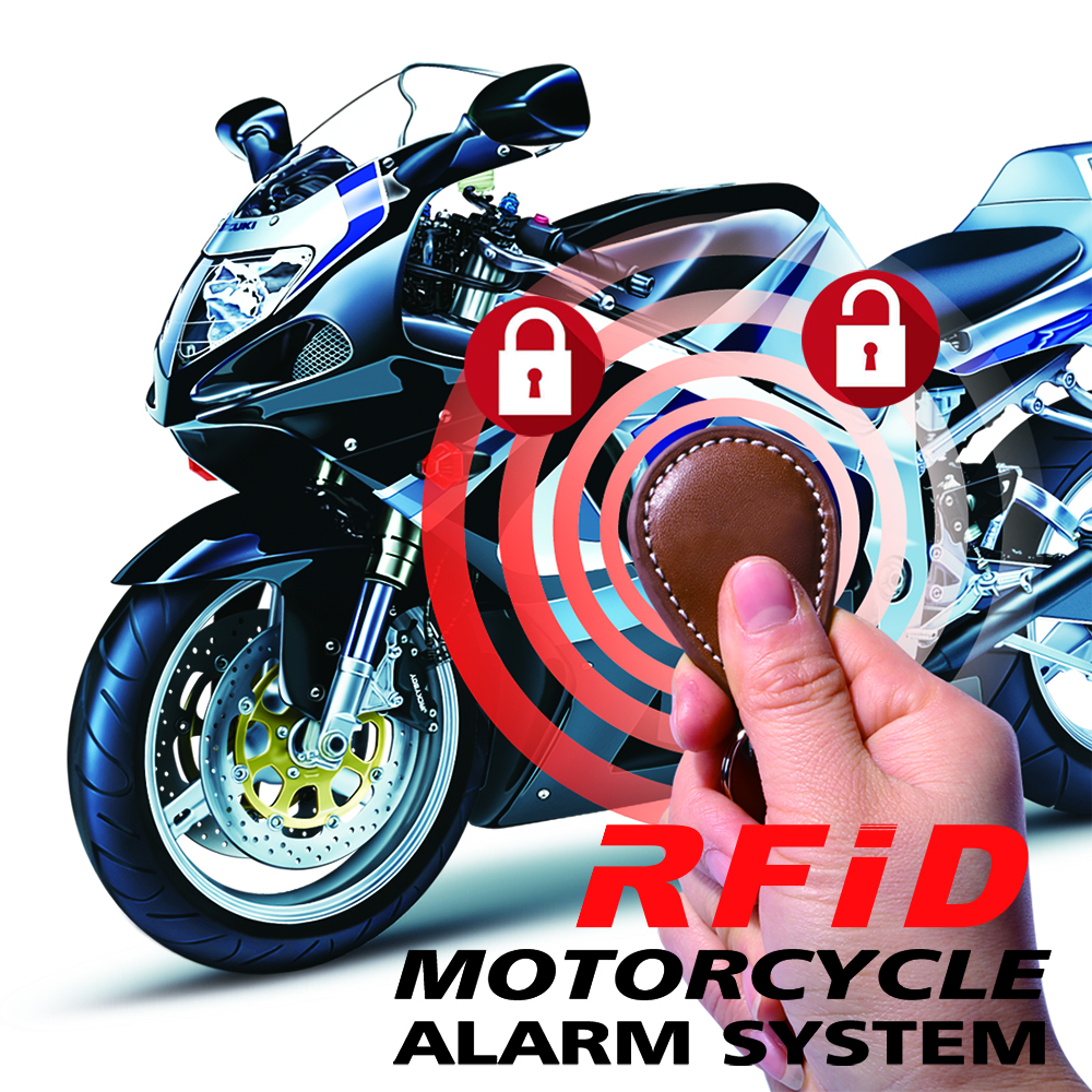BANVIE RFID Immobilizer Motorcycle Alarm System With Engine Cut Off ID Card Lock Motorbike Anti-theft Lock