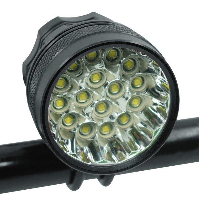 40000 lm 16 * XML T6 LED إضاءة دراجة هوائية المصباح ركوب الدراجات الدراجة الجبهة مصباح الدراجة اكسسوارات أضواء بدون بطارية 18650