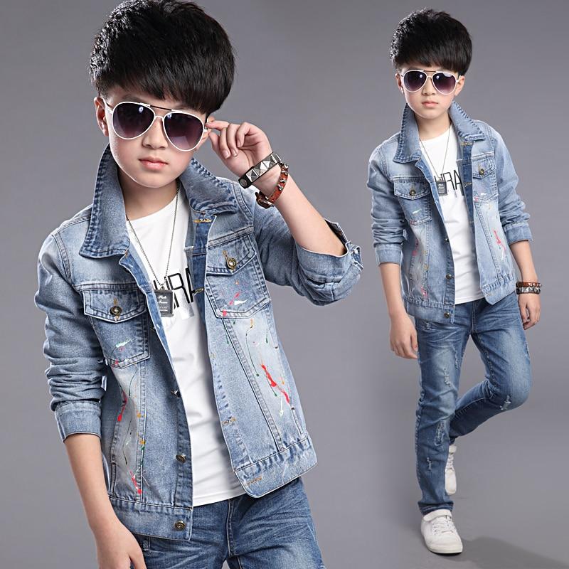 Buy European Style 2017 Spring Autumn Children 39 S Wear Boys Casual Denim Jacket