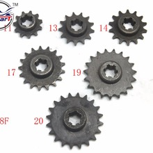 T8F 11 13 14 17 19 20 Tooth 11T 13T 14T 17T 19T 20T front sprocket 2 stroke 47cc 49cc mini moto pocket atv dirt bike