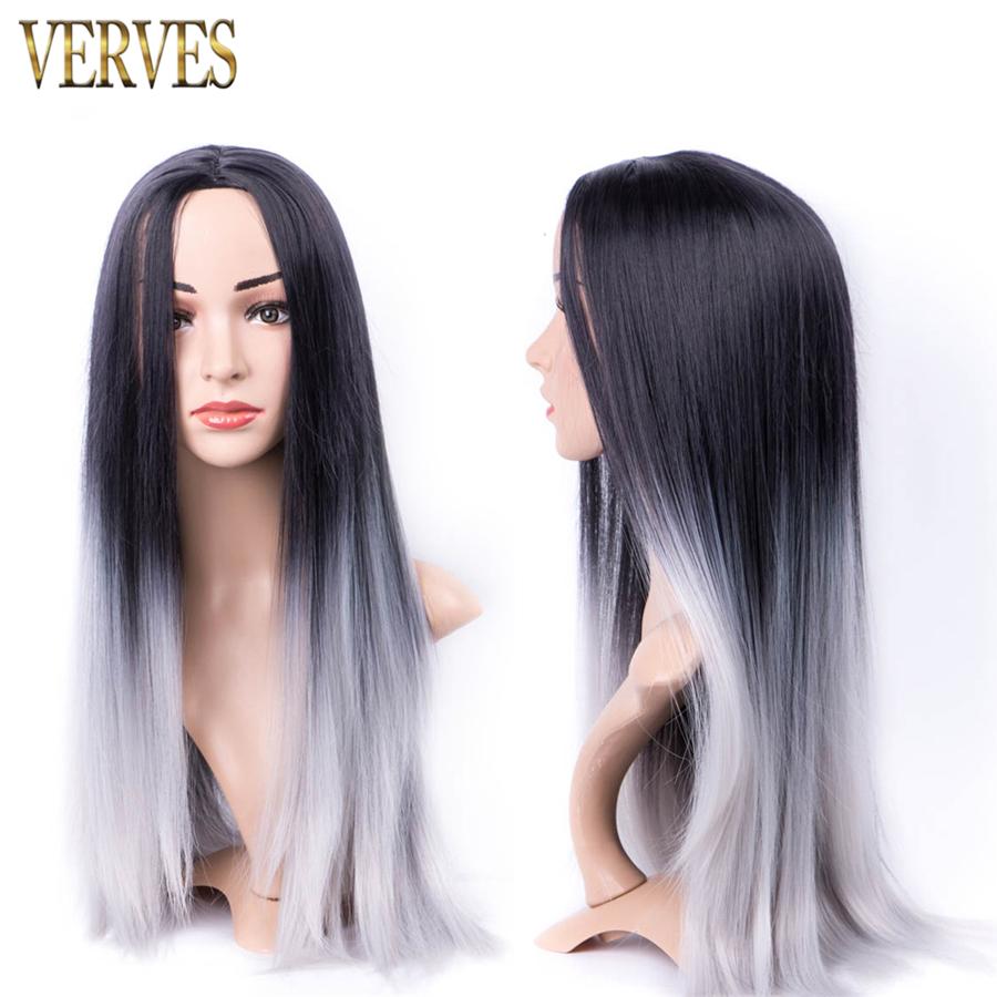 synthetic wigs grey color