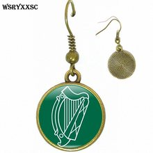 St Patrick's Day Irish Harp of Ireland Personality Ear Hook