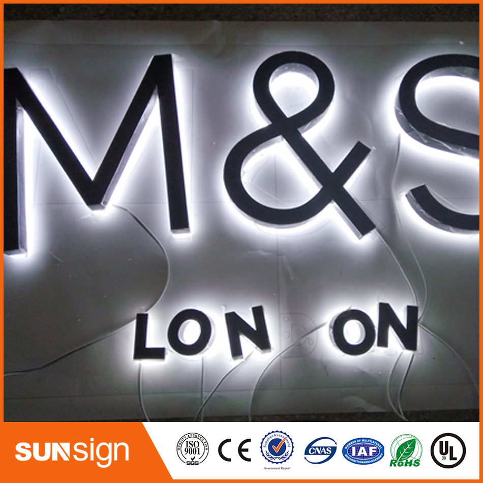 Stainless Steel Backlit Led Channel Letter Sign