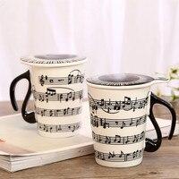 Instrument de Musique en céramique Tasses Tasse Personnalité Musique Note Lait Jus De Citron Tasse Café Thé Tasse Bureau À Domicile Verres Cadeau De Noël