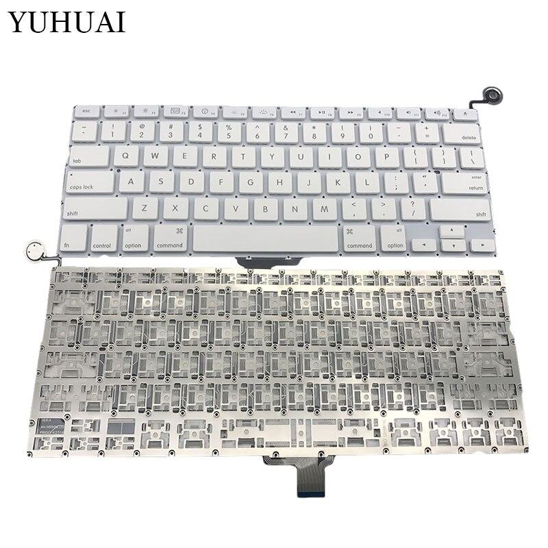 US Layout Clavier Pour Macbook Pro 13 Pouces Blanc US Clavier A1342 Clavier