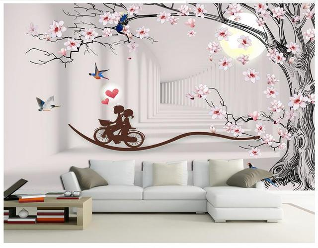 High end custom 3d photo wallpaper murals wall paper beauty Magnolia
