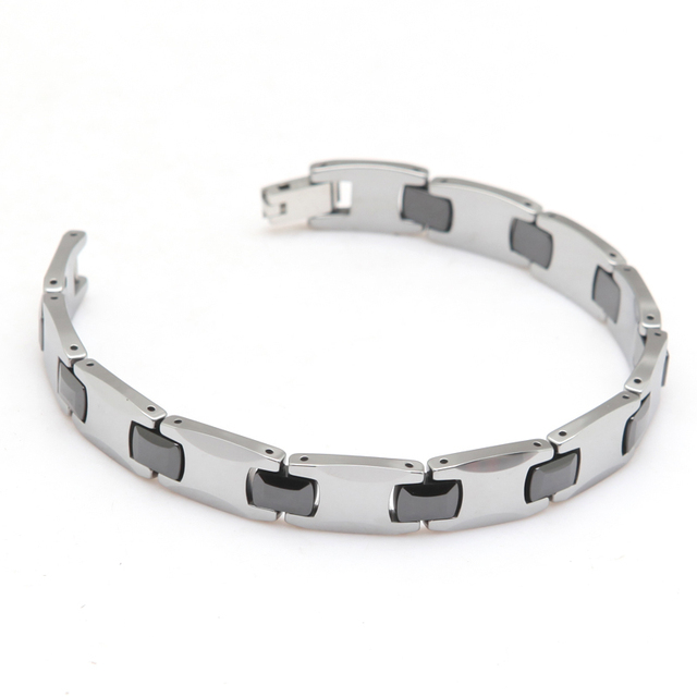 Simple Polished 21.5cm Long Bracelet Tungsten Bracelet For Gentlemen Style Jewelry Width 1cm Thickness 3mm Weight 67g