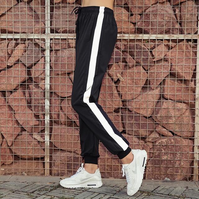 Women's Sports Pants Loose Fitness Running Reflective Strips Jogger Pants 2018 Autumn New Sportswear 3