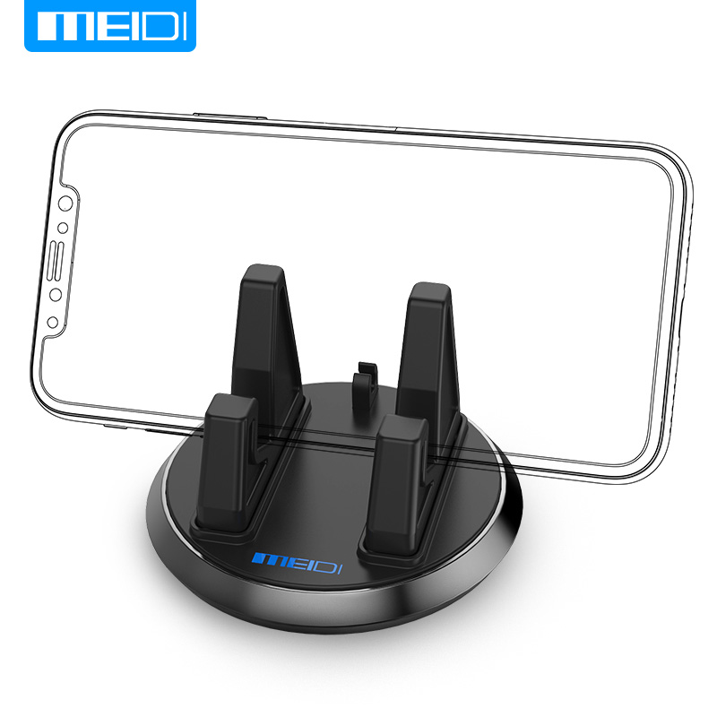 MEIDI Universal Mobile Phone Holder 360 Rotatable Car Dashboard GPS Desktop Stand Anti Slip Bracket for iPhone 5s 6 Samsung