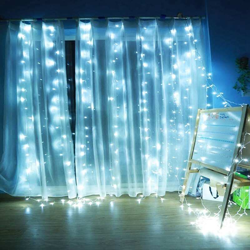 Fairy String Fairy Light Festival Curtain Fairy String Light Yard LED Lights Wedding Super Bright 300LED Parties Garden