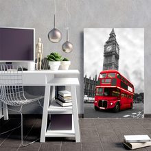 London Red Bus New York Paris Art Print Bedding Canvas Painting Poster Wall Oil Online  Decor