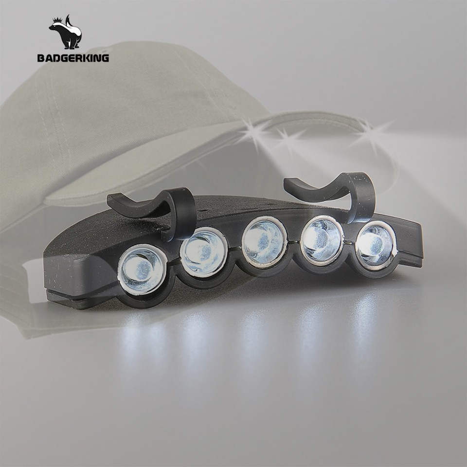 Cap Light For Fishing At Night Clip On Hat LED Light For Fishing Accessories Tackle With Button Battery Fishing Light