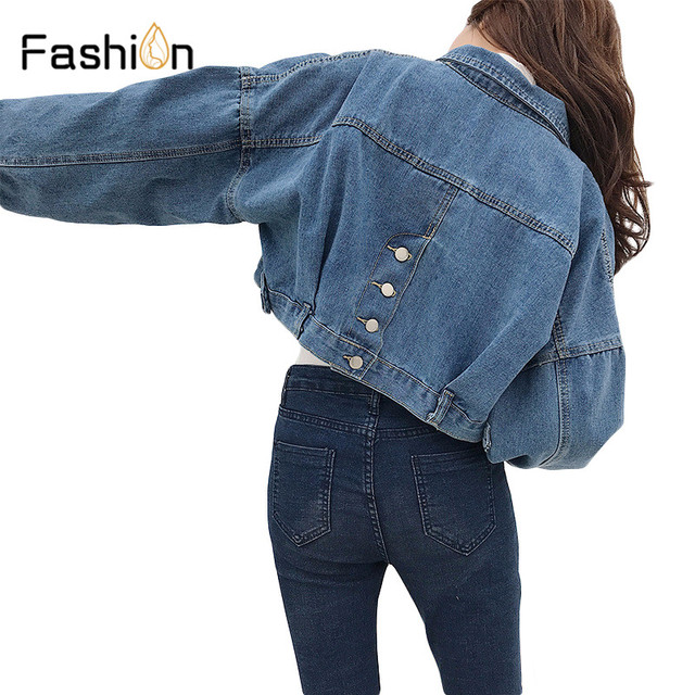 2018 Women Basic Short Denim Jacket Girls Coat Jeans Jackets Ladies