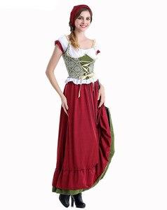 Image 4 - Octoberfest בוואריה שמלה כפרית חדרניות איכרים חצאית שמלת גרמנית בחורה תלבושות המפלגה נקבה אוקטוברפסט ארוך שמלה