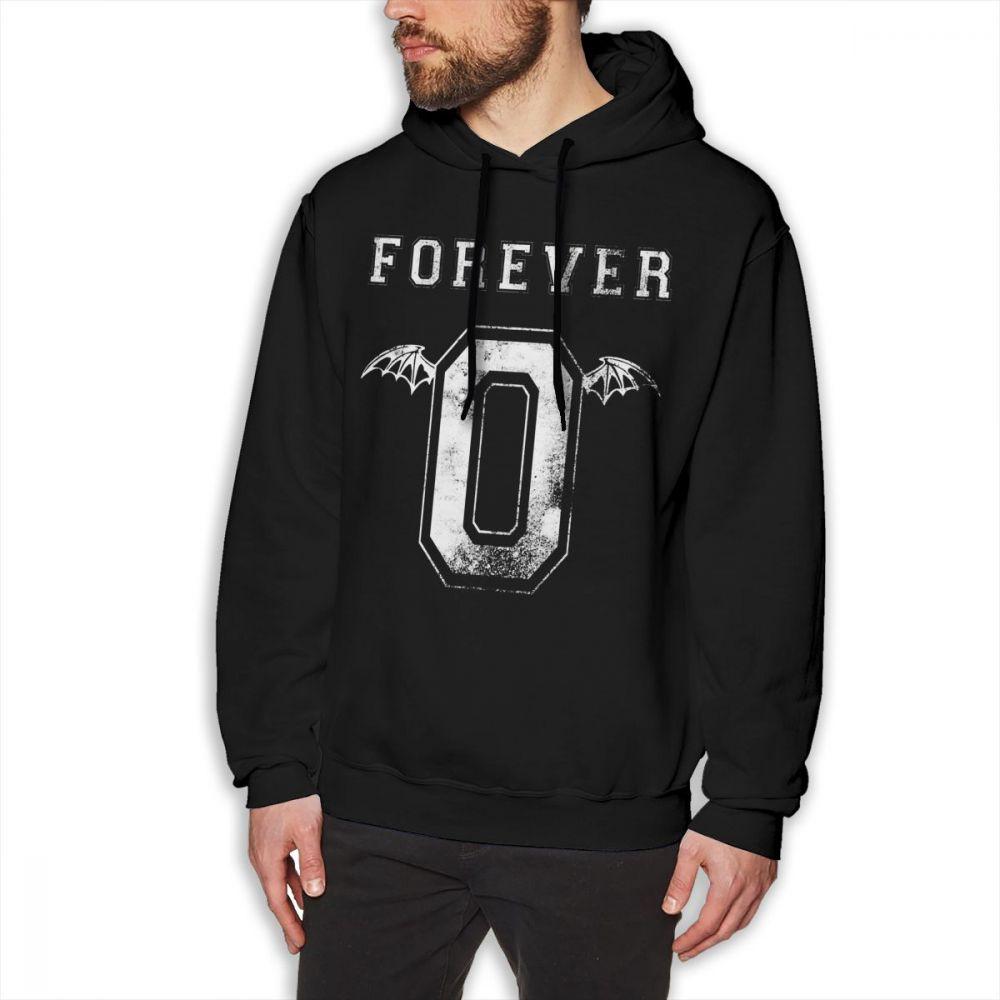 Avenged Sevenfold Hoodie The Rev Forever 0 Hoodies Long Sleeve Cotton Pullover Hoodie Purple XL Popular Warm Loose Men Hoodies