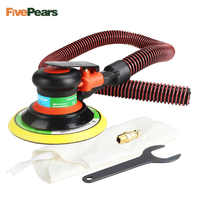 """Free shipping Wholesale 6 Inches air Sander with Vacuum 150mm Pneumatic Sander 6"""" Air Sanding Machine Pneumatic Tools FivePears"""